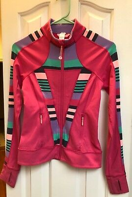 Ivivva Girls size 10 Perfect Your Practice Jacket Pink