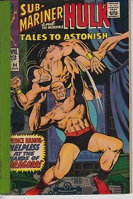 Tales to Astonish 94 - 1967 - Hulk & Sub-Mariner - Good +