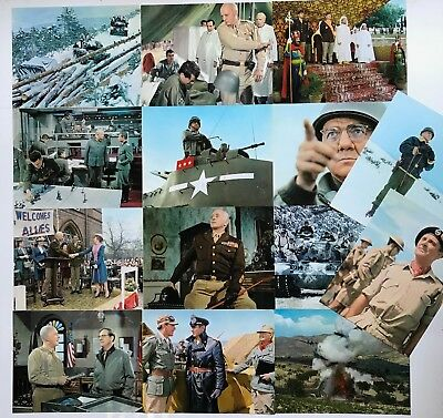 PATTON (1969) Original US 11x14 Lobby Card Complete Set (14) George C. Scott