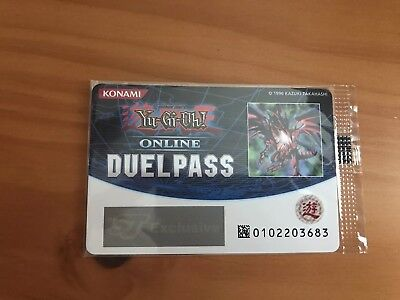 Shonen Jump Exclusive Sealed Yugioh Online Duel Pass Red Eyes