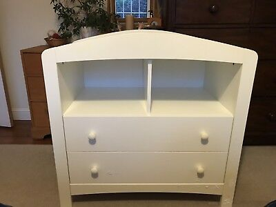 Mothercare Taunton White Unisex Nursery Bedroom Changing Unit/Chest Of Draws