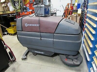 Powerboss Value Scrub Walk Behind Floor Scrubber And Cleaner With Battery