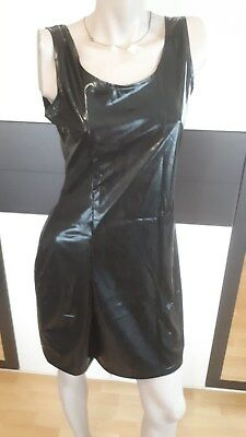 Damen Latex - Wet-look Kleid mit String Gr 38-40 Neu OVP