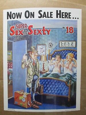 Now on sale here... Super sex to sexty Poster advertisement 1971 sign Inv#G2657