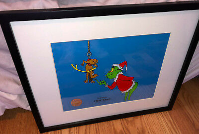 Dr Suess How The Grinch Stole Christmas Sericel Boo Hoo Cel Rare Animation Cell