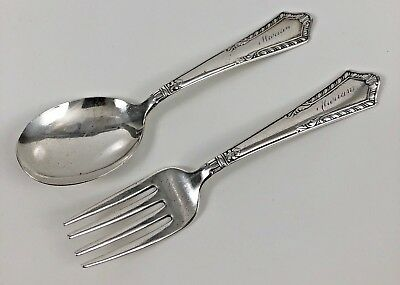 Vintage Chase Sterling Silver .925 Youth Child Fork And Spoon Set