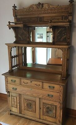 Cottage Victorian/Ornate Farm House Vintage Rare Hutch/Side Board