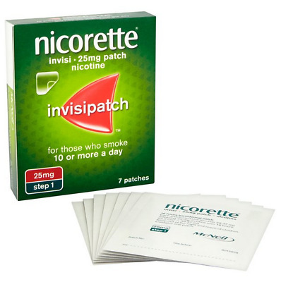 Nicorette Invisi Patch 25MG Step 1 x 40 Patches FREE P&P
