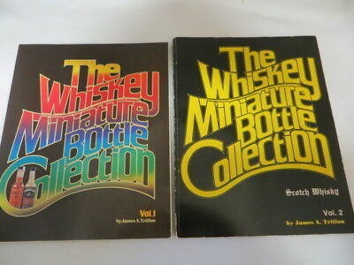 Two Miniature Whiskey Bottle Collection Books Vol. 1 & Vol. 2