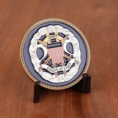 Joint Chiefs of Staff US Department Of Defense Brass Challenge coin & Pouch