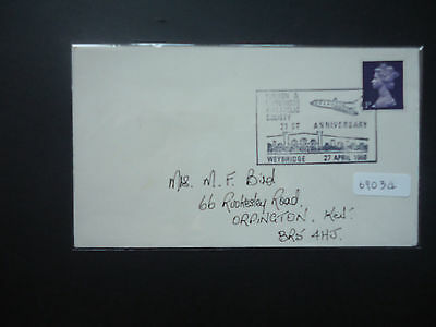 GB 1968 Walton & Weybridge Philatelic Society 21st Anniversary Event Cover