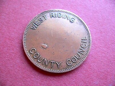 West Riding Wakefield Weights & Measures Copper Token Check