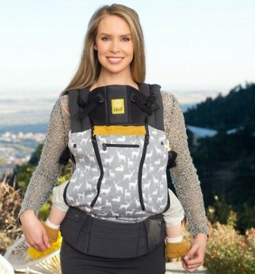LILLEBABY Complete All Seasons Gray/Mustard  Deer Design Baby & Child Carrier
