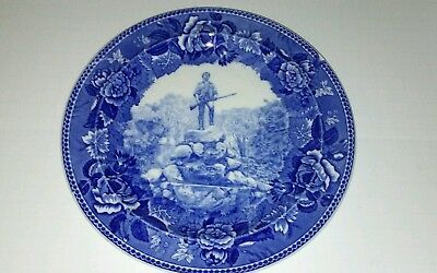 Wedgwood Flow Blue Transferware Plate Stand Your Ground.