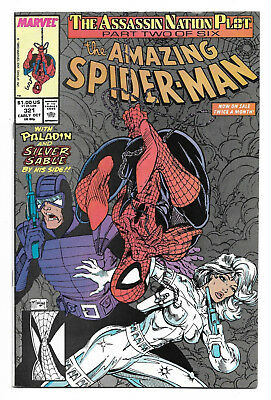 Amazing Spider-Man #321 Oct 1989 Very Fine (8.0) Paladin Silver Sable