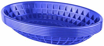 Bear Paw Products Plastic Deli Baskets - Perfect for Food - 6 Pack, Blue