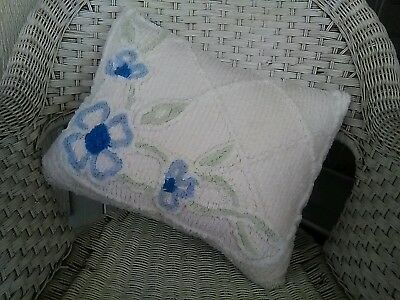 Lovely Authentic Vintage Chenille Pillow Throw Display