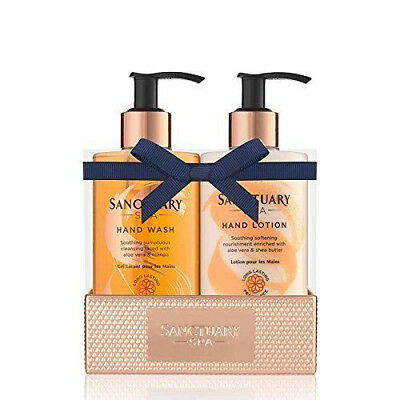 Sanctuary Spa 2018 Pampering DUO Hand Soap Lotion ROSE GOLD Tray Cream Wash SALE