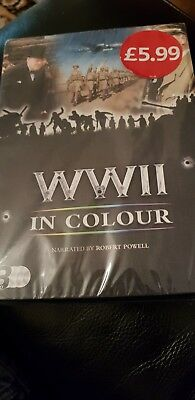 Wwii In Colour Narrated By Robert Powell - 3 Dvd Box Set World War 2 New