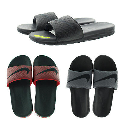 Nike 705474 Mens Benassi Solarsoft Slip On Flexible Slide Sandals Flip Flops