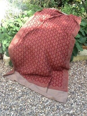 Large Victorian Paisley Shawl All Wool Super Condition/colour Fine And Delicate.