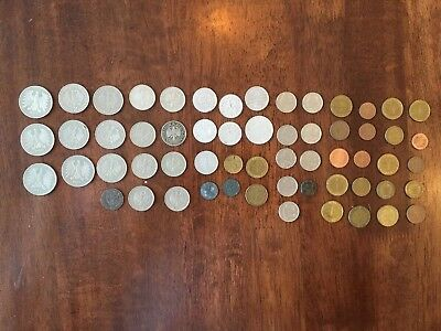 Lot OF 59 GERMAN Coins 1918 to modern dates. see pictures.