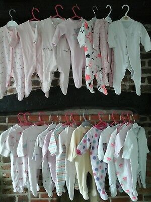 Baby girl clothes bundle 0-3 months Babygrows, Next, Mothercare, M&S
