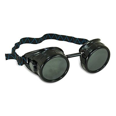 AES Industries #5 Shade Black Safety Welding Cup Goggles - 50mm Dual Lens Eye