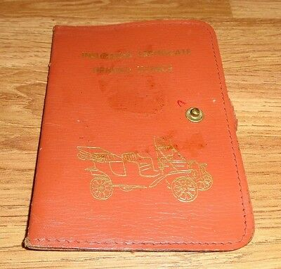 Vintage Leather Insurance Certificate Driving Licence Wallet