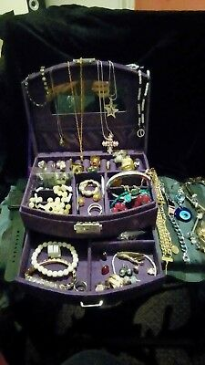 Large Job Lot Of Assorted Jewellery And New Jewellery Box