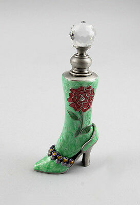 9987097 Smaller Metal Enamelled Flask Shoe Boot H11, 5cm