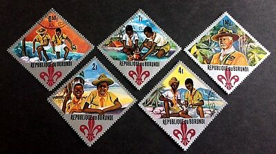 5 wonderful old stamps Burundi