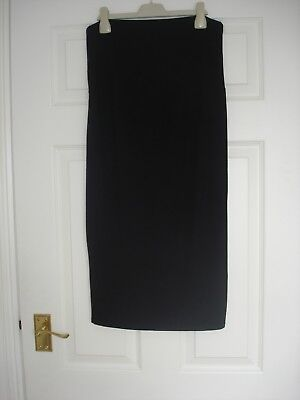 *MOTHERCARE BLOOMING MARVELLOUS* Maternity Over Bump Black Straight Skirt.Size 1