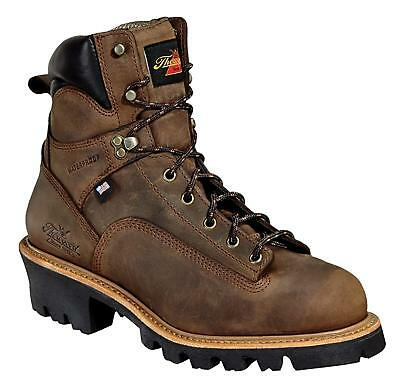 """Men's Thorogood 6"""" Safety Toe Logger Boot; Waterproof; Made in USA"""