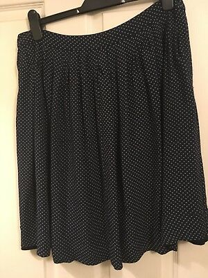 Toast Navy Skirt With White Pattern Size 12