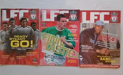 LIVERPOOL LFC OFFICIAL MAGAZINE x 3 -  ISSUES 43 , 45 & 53  2003