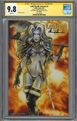 Lady Death Secrets #1 Fiery Edition CGC 9.8 SS Signed Pulido Ltd 99 Moore cover