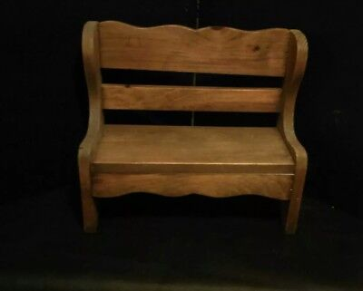 ~VINTAGE HANDMADE SMALL CHILD'S WOODEN BENCH~W15'x H13'x 7'