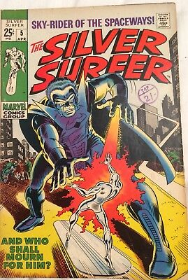 Silver Surfer # 5  (silver Age Series )And who shall Mourn for Him? VG+FN-