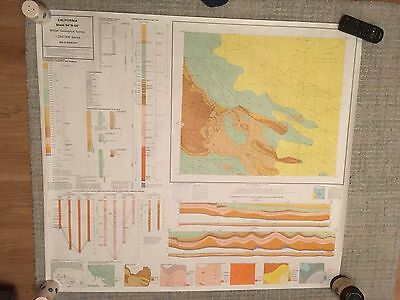 CALIFORNIA British Geological Survey Map 1:250000 UTM Series  sheet 54N-00