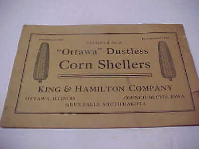 Early Ottawa Dustless Corn Shellers 24 Page Catalog Sioux Falls COUNCIL BLUFFS
