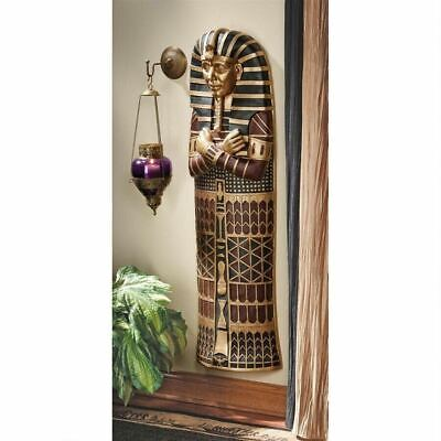 "Ancient Egyptian King Tutanhamon Sarcophagus 13.5"" Wall Sculpture"