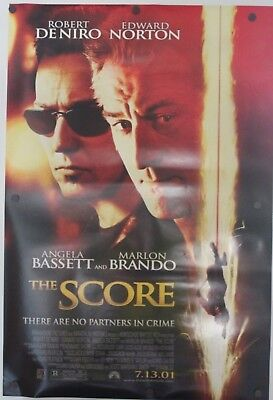 """The Score 2001 Double Sided Original Movie Poster 27"""" x 40"""""""