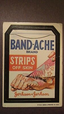 Topps 1973 Band-Ache Wacky Packages Sticker White Back 1st Series Card