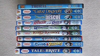 9 x Thomas The Tank Engine Dvds which includes 6 x  Feature Films