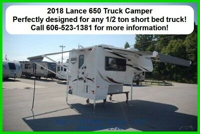 2018 Lance Manufacturing 650 Slide In Pick Up Truck Camper 1/2 Ton Short Bed RV
