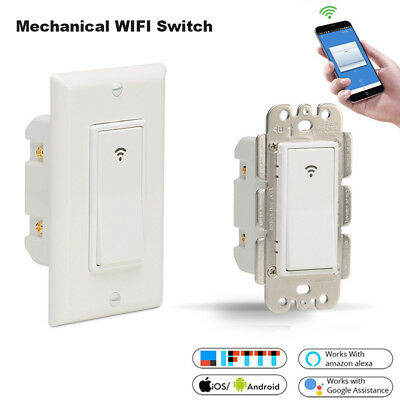 Timer Remote Control LED Light Dimmer Smart Home Wifi Wall Switch Touch Panel