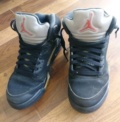 competitive price a1cc8 9db33 Nike Air Jordan V 5 Retro Og Bg Gs Black Metallic Silver Kids Size 7Y 845036