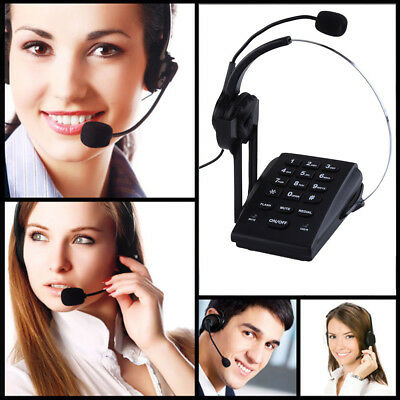 Telephone with Headset Corded Phone Home Business for Office Work for Call X8D7G
