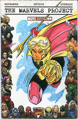 The Marvels Project #1 blank variant cover with Adam Warlock sketch by Ron Lim